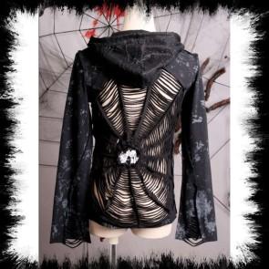 Punk Rave Jacke Mit Spinnennetz Auf Dem Rücken