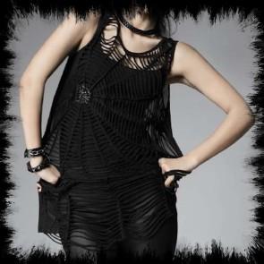 Punk Rave Spiderweb Top Lang