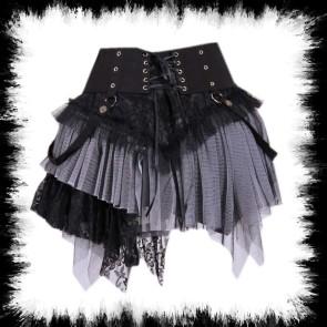 Minirock Mit Hüfttaschen Schwarz Grau