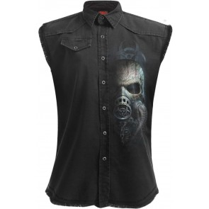 Bio Skull Sleveless Workershirt