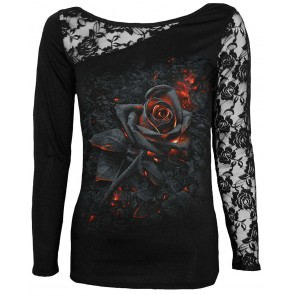 Burnt Rose Frauen Longsleeve Shirt