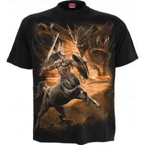 Centaur Slayer Black T Shirt