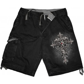 Custdian Vintage Cargo Shorts Black