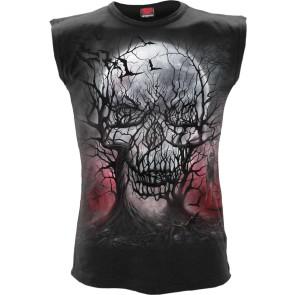 Dark Roots Sleeveless T Shirt Black