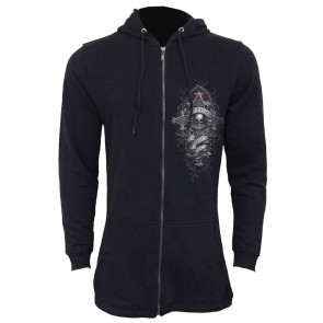 herren fishtail hoodie jacke in goth we trust