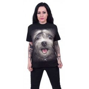 MISTY EYES - FRONT PRINT T-SHIRT SCHWARZ