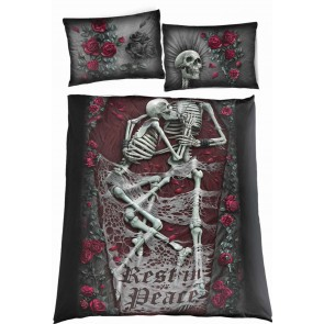 REST IN PEACE - Double One Print Bedlinen + 2xUK Pillows