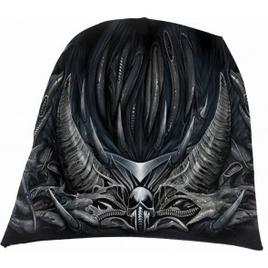 SKULL ARMOUR - Light Cotton Beanies Black