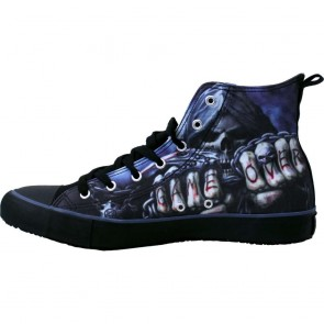Sneakers Turnschuhe Gothic Game Over