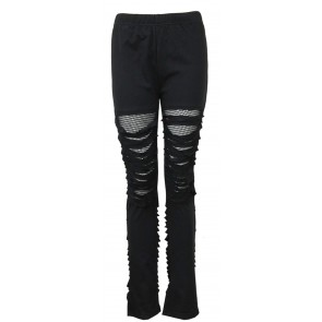 Urban Fashion – Gothic Leggings Mit Netz