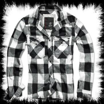 Brandit Lumberjack Shirt White Black