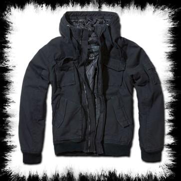 Brandit Hooded Winter Jacket Black