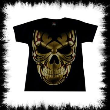 T Shirt Tribal Skull Frontal