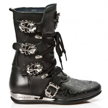 M.HY017-C6 New Rock Boots,flachs Hybrid