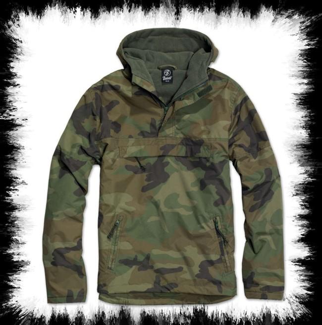 Brandit Windbreaker Jacket In Green Woodland Camoflage - Men ...
