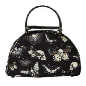 Bowling Handtasche Mit Schmetterlingen Und Totenköpfen