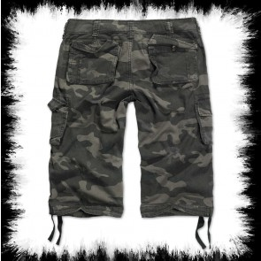 Brandit Three Quarter Shorts Urban Legend Dark Camoflage