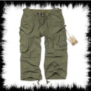 Brandit Three Quarter Shorts Urban Legend In Olive Green