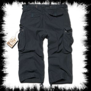 Brandit Three Quarter Shorts Black Urban Legend