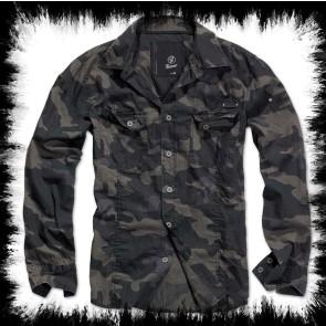 Brandit Men's Shirt Dark Camoflage