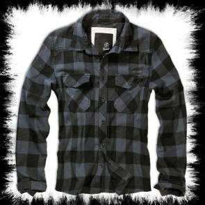 Brandit Lumberjack Shirt Dark Gray Big Check