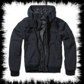 Brandit Hooded Winter Jacket Black