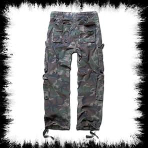 Brandit Pure Vintage Pants Woodland Camoflage