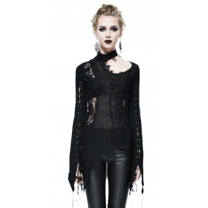 Gothic Lady Longsleeve Black Embroderie