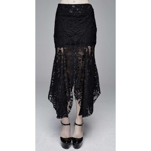 Devil Fashion - Gothic lace fabric skirt