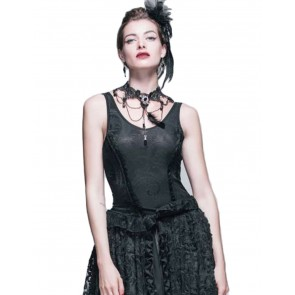 Corset Look Gothic Stretch Top