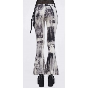 Devil Fashion - Black White Batik Flares