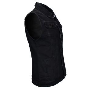 Jeans Vest Men Black
