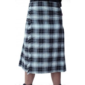 Kilt Black And White Checkered