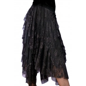 Long Gothic Skirtand Net Lace