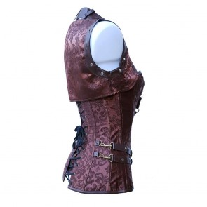 Brown Steampunk Corset With Bolero