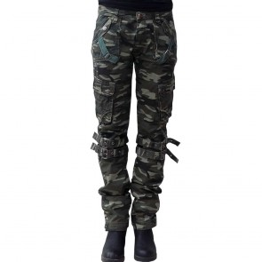 Lady Camoflage Trouser Green