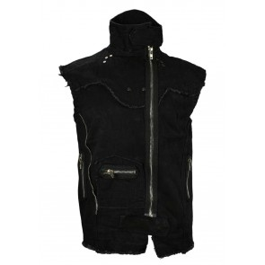 Gothic End Time Vest Black