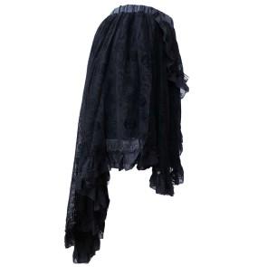 Gothic Skirt Skullnet Asymmetric