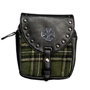 Kilt Bag Green Celtic Cross