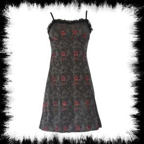 Dress Rose & Skull Dark Gray