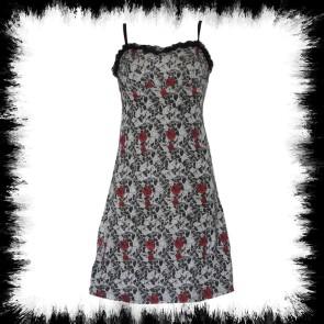 Dress Rose & Skull Light Gray