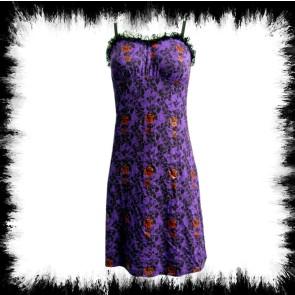 Dress Rose & Skull Purple