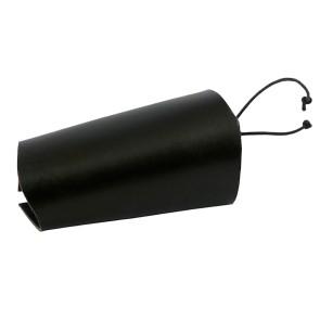 Black leather bracer