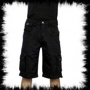 Black Army Shorts