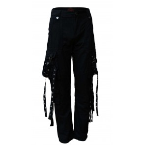 Black Gothic Trousers Men Long