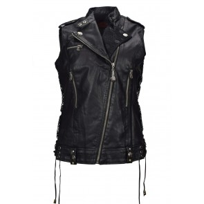Black Gothic PU Leather vest