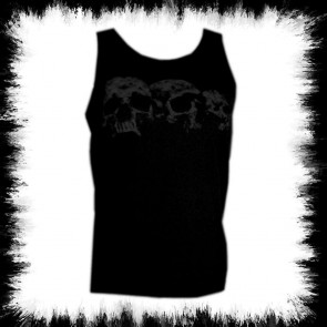 Black Ladies Tank Top Three Skulls