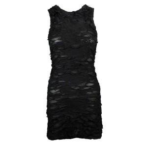 Schwarzes Gothic Fetzen Kleid