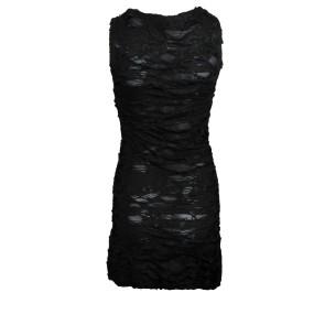 Black gothic shred dress