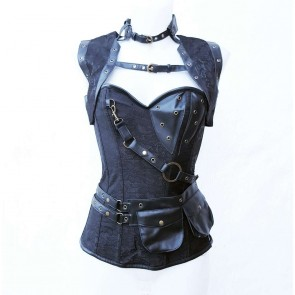 Black Steampunk Corsett With Bolero